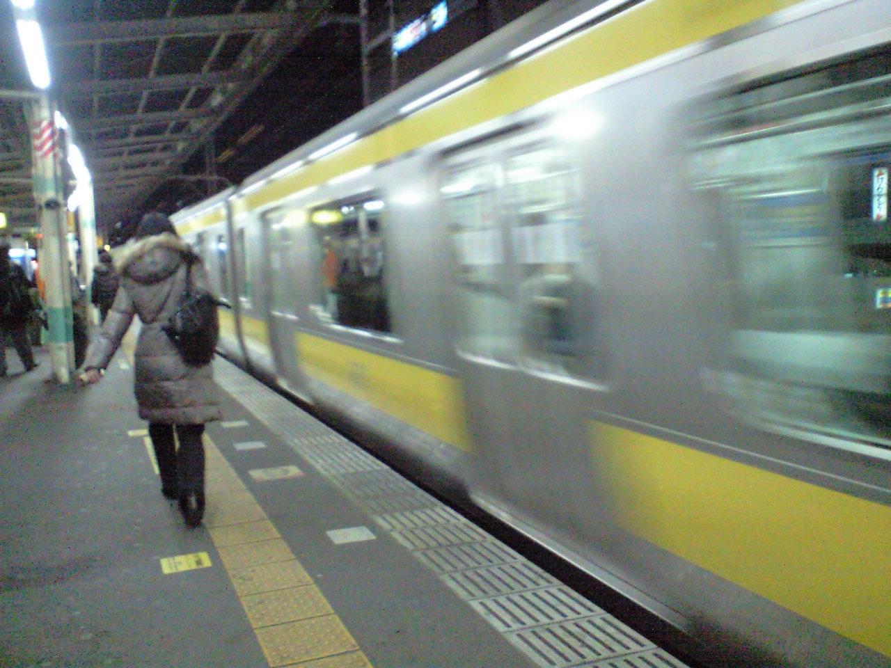 最近…電車での移動がふえました